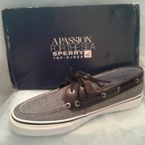 Sperry Other - ⛵ Sperry Bahama Chambray Black Topsiders ⛵